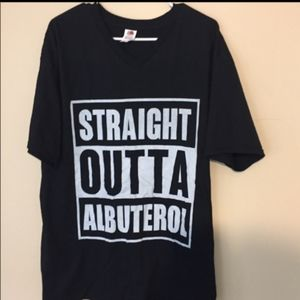 Straight outta Albuterol graphic tshirt